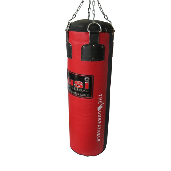 USI Leather 4 Foot Boxing Bag, Red