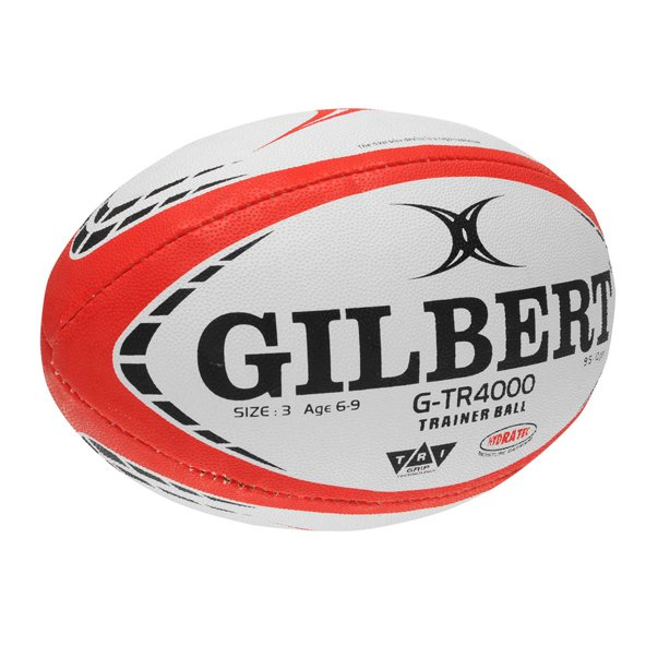 Gilbert G TR4000 Trainer Rugby Ball, White