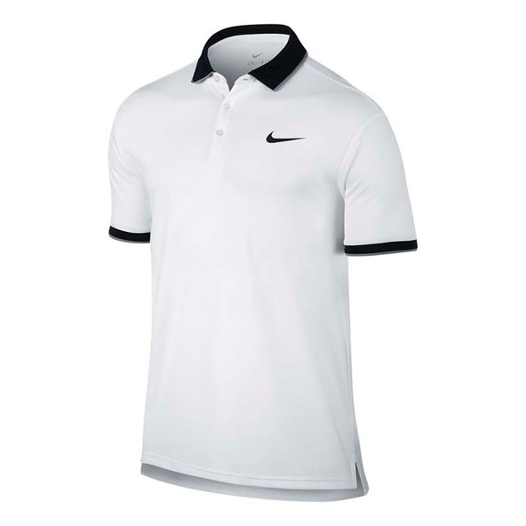 Nike Court Dry Men's Tennis Polo, White