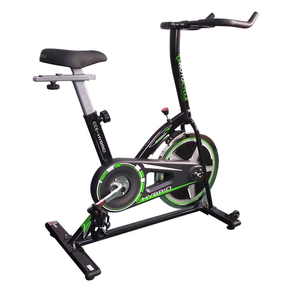 Rotocycle Hybrid 250 Spin Bike, Black/Green