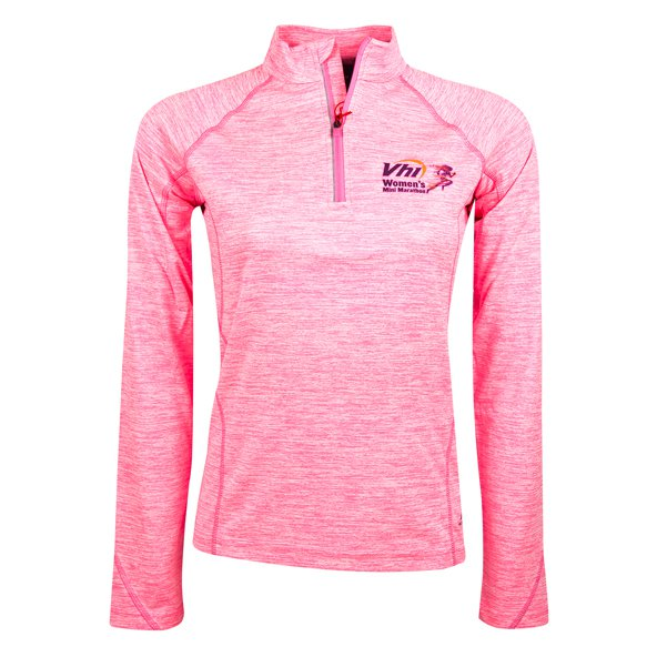 VHI Women's Mini Marathon Ina ¼ Zip Top, Pink