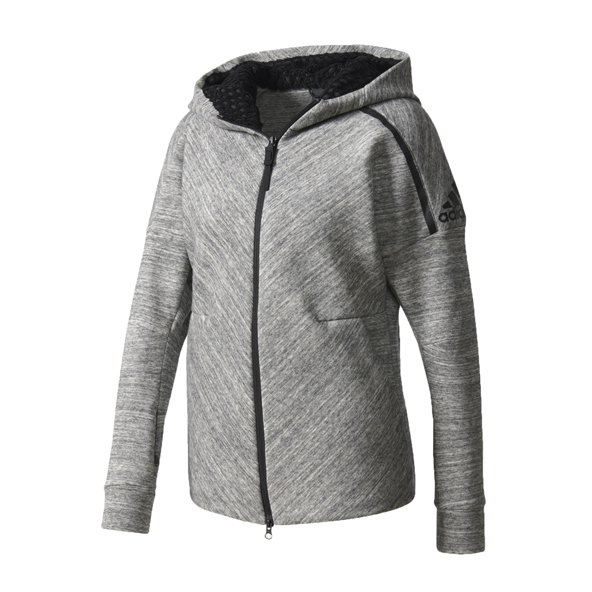 adidas Z.N.E. Roadtrip Women's Full Zip Hoody, Grey