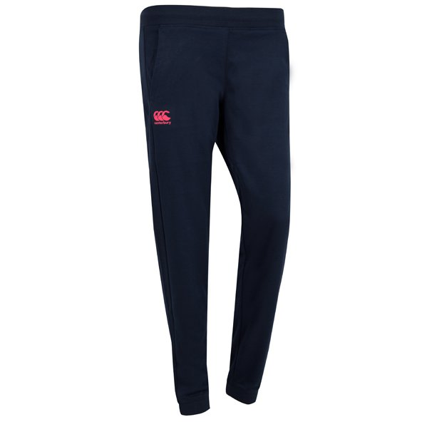 Canterbury Tapered Fleece Cuffed Women's Pant, Navy