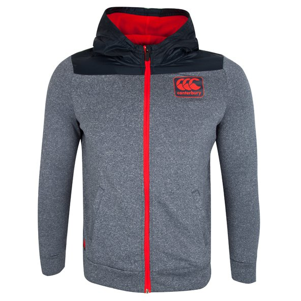 Canterbury Vaposhield FZ Boys' Hoody, Grey