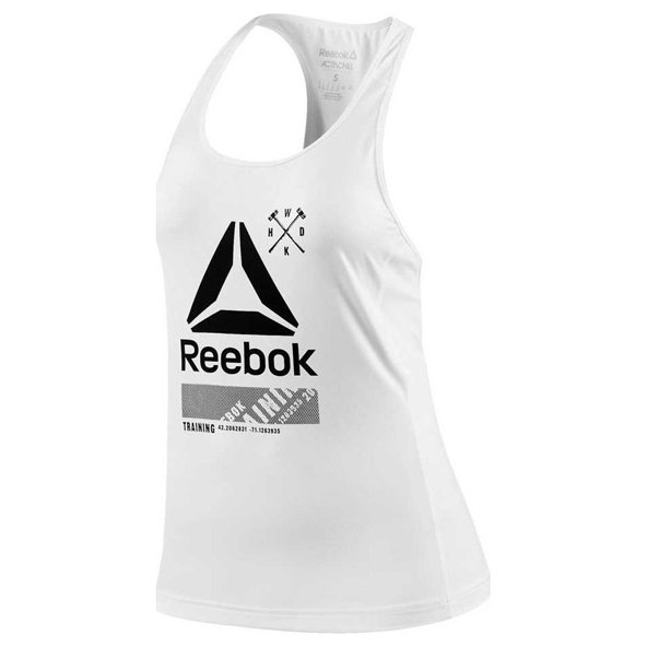 Reebok ActivChill Graphic Women's Tank, White