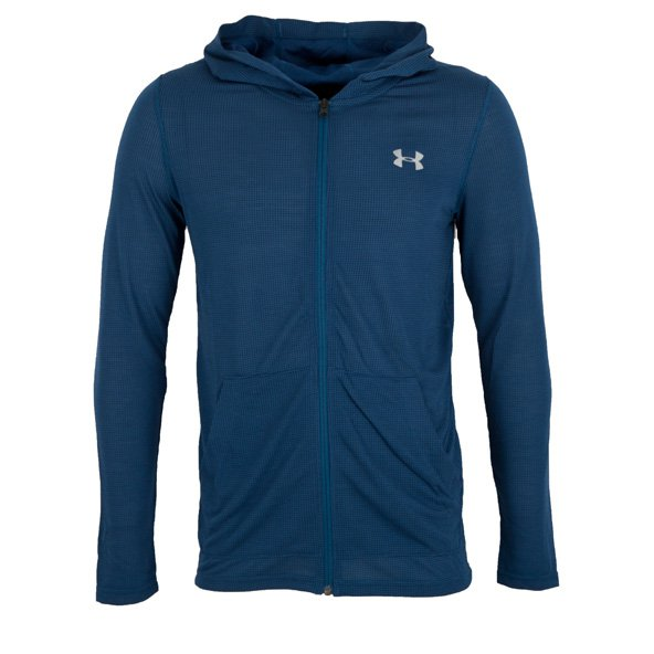 UA Threadborne™ Men's Fitted FZ Hoody, Navy
