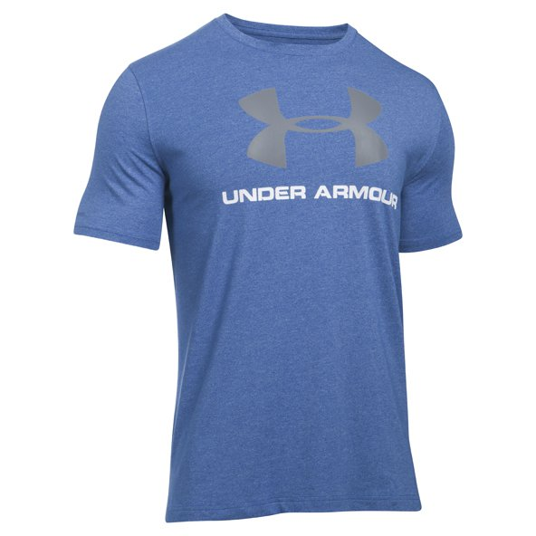 UA Charged Cotton® Sportstyle Logo Men's T-Shirt, Blue