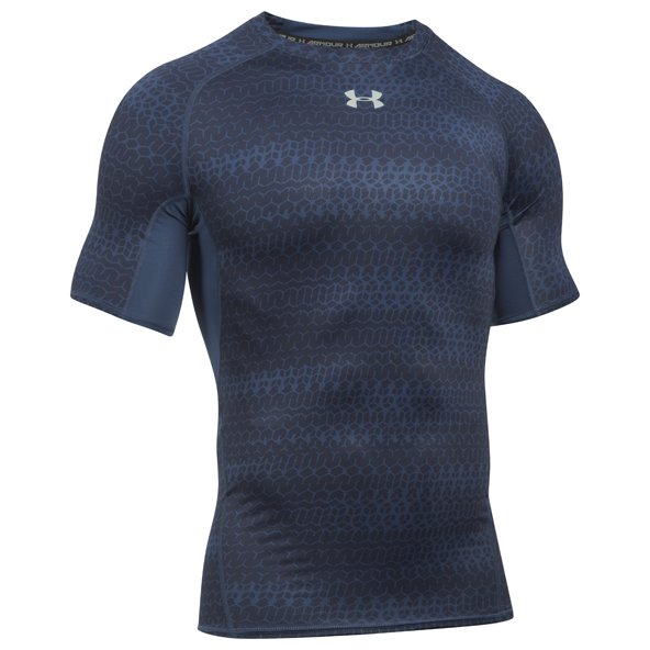 Under Armour® Printed Men's Compression T-Shirt, Navy