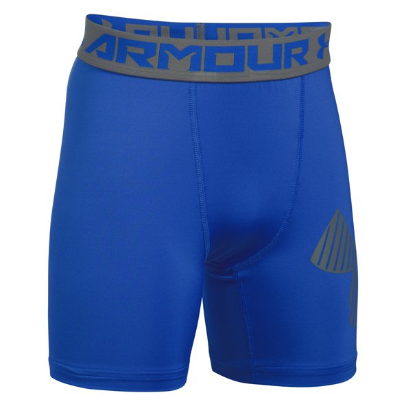 Under Armour® HeatGear® Mid Boys' Short, Blue