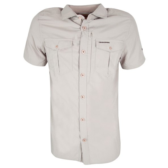 Craghoppers Adventure Men's SS Shirt, Cream