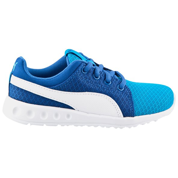 Puma Carson Runner 400 Mesh Junior Boys' Trainer, Blue