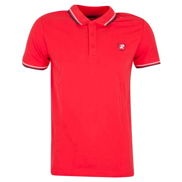 Rugbytech Tipped Men's Polo, Red