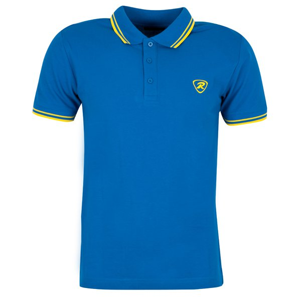 Rugbytech Tipped Men's Polo, Blue