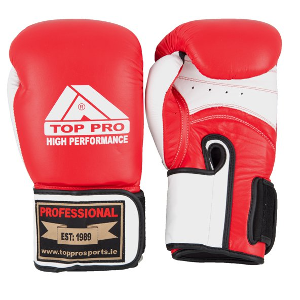 Top Pro High Performance Boxing Gloves, Red