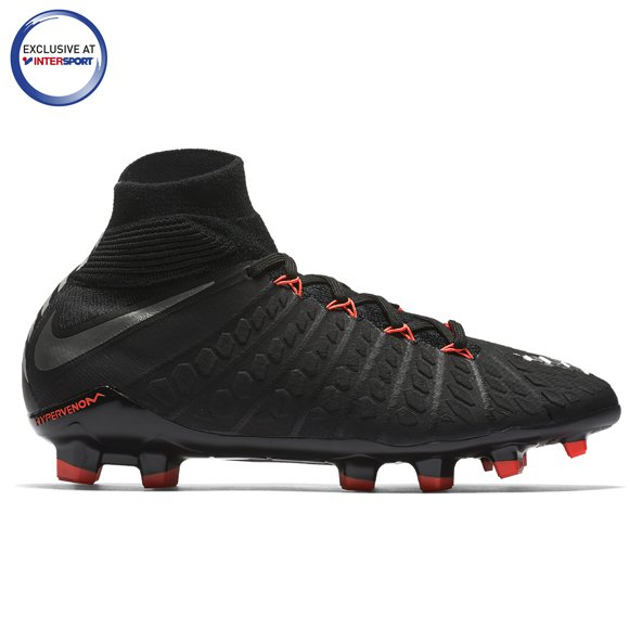 Nike Hypervenom Phantom III DF FG Kids' Football Boot, Black