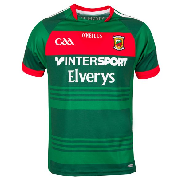 O'Neills Mayo 2017 Player Fit Home Jersey, Green