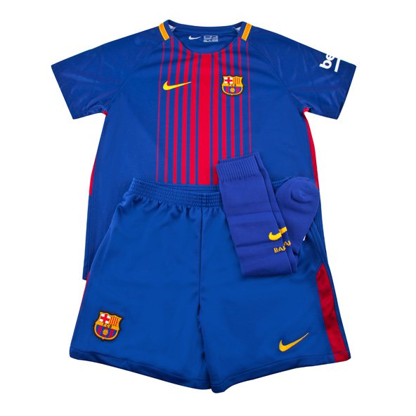 Nike FC Barcelona 2017/18 Kids' Home Kit, Blue