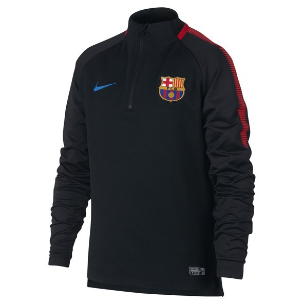 Nike FC Barcelona 2017 Kids' Squad Drill Top, Black