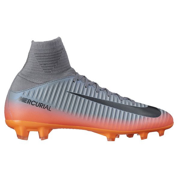 Nike Mercurial Superfly V CR7 Kids' Football Boot, Grey