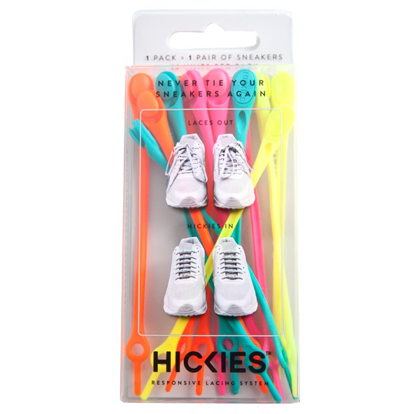 Hickies Elastic Laces, Neon Assorted