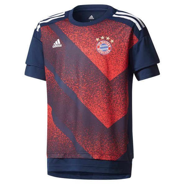 adidas Bayern Munich Kids' Pre Match T-Shirt, Navy