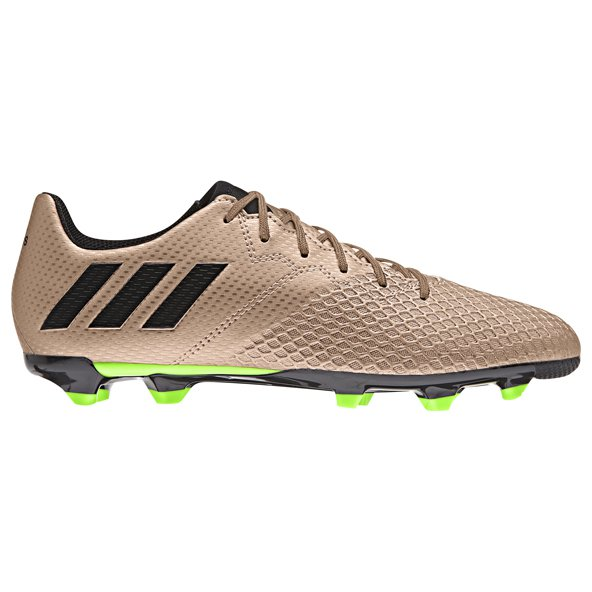 adidas Messi 16.3 Kids' FG Football Boot, Gold