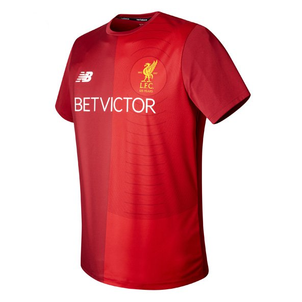 NB Liverpool 2017/18 Pre Match T-Shirt, Red