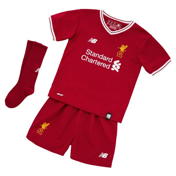 New Balance Liverpool 2017/18 Infant Kit, Red