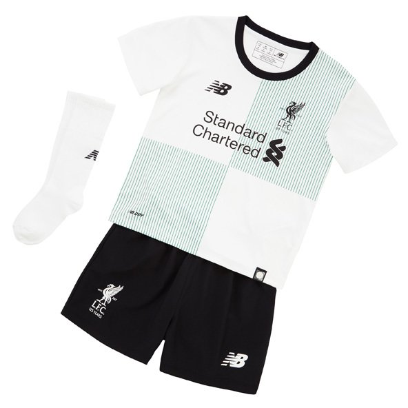 New Balance Liverpool 2017/18 Away Infant Kit, White