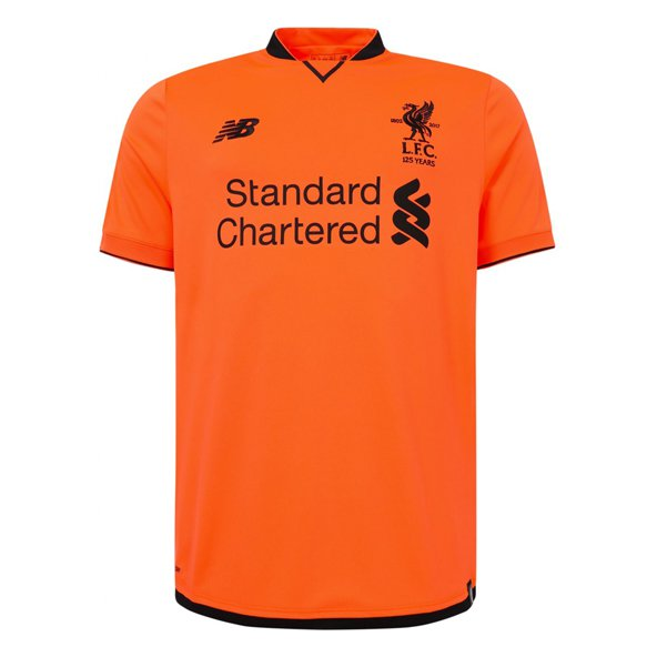 New Balance Liverpool 2017/18 Kids' 3rd Jersey, Orange