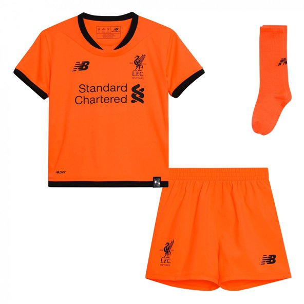 New Balance Liverpool 2017/18 Infant Kit, Orange
