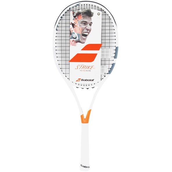 Babolat Pure Strike 100 Tennis Racket White/Red