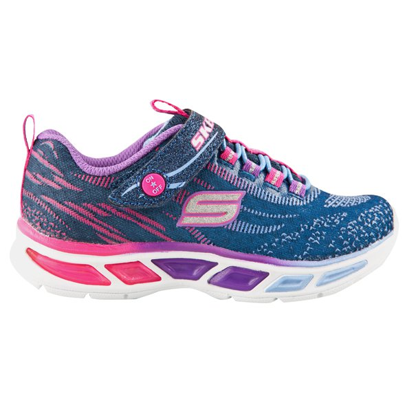 Skechers LiteBeams Junior Girls Trainer, Navy