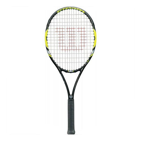 Wilson Steam 105 S Tennis Racket, Black