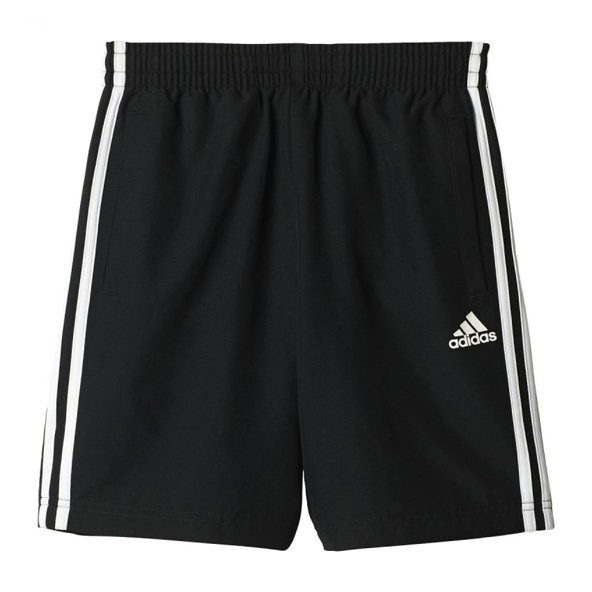 adidas ID 3 Stripe Boys' Woven Short, Black