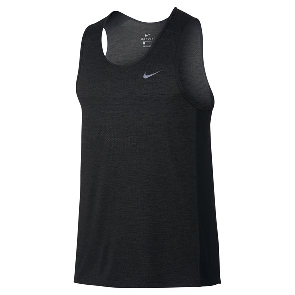 Nike Breathe Miler Men's Running Tank, Black