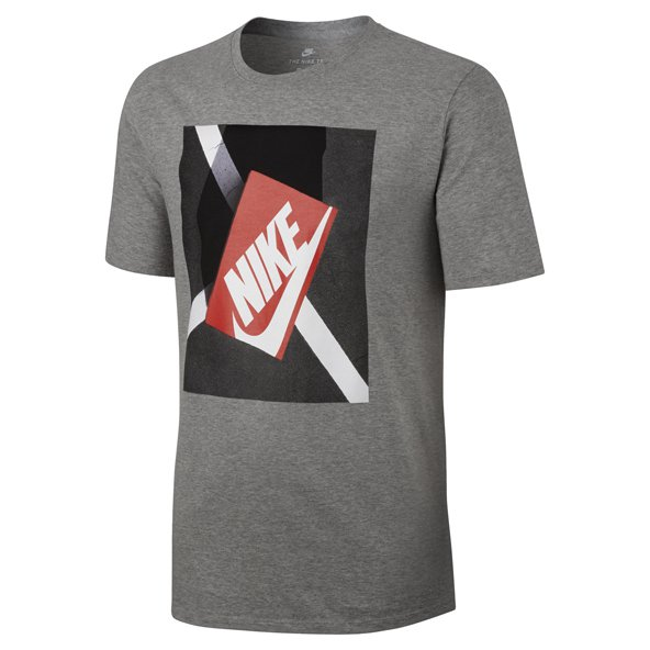 Nike Swoosh Shoebox Men's T-Shirt, Grey