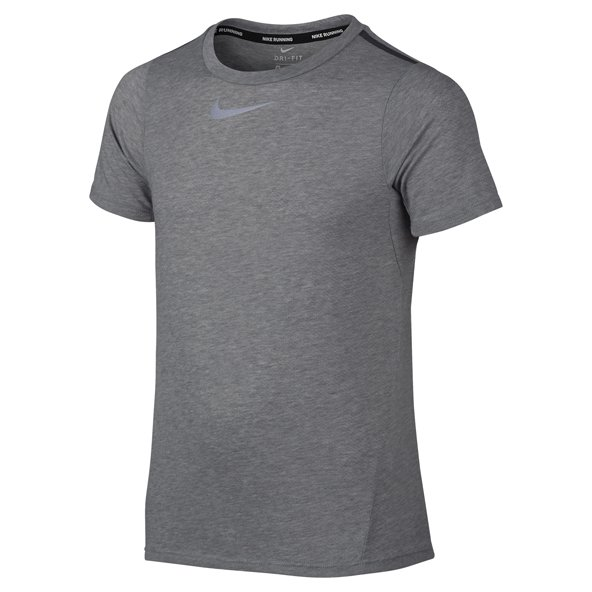 Nike Dry Tailwind Boys' Running T-Shirt, Grey