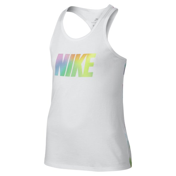 Nike Swoosh Rainbow Girls' Tank Top, White
