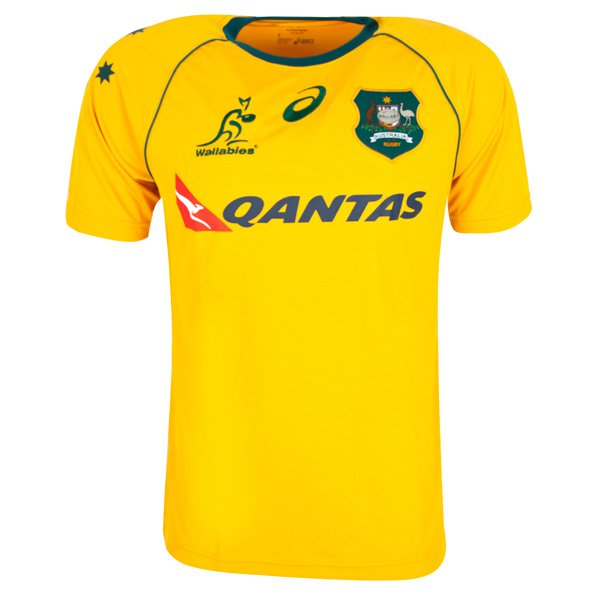 Asics Wallabies 2017/18 Home Jersey, Gold