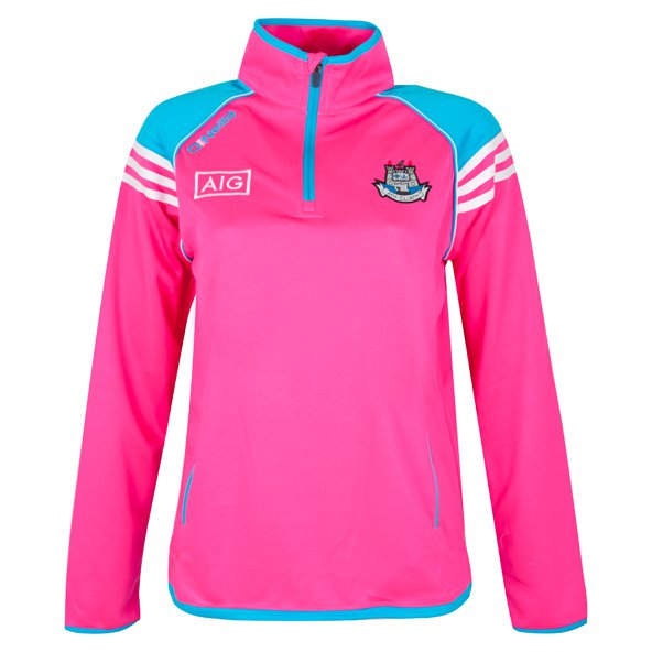 O'Neills Dublin Abbey Women's ½ Zip Squad Top, Pink