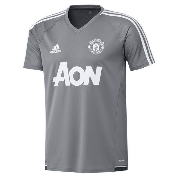 adidas Man United 2017/18 Training Jersey, Grey