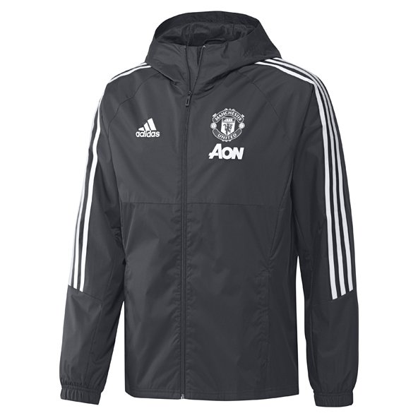 adidas Man United 2017/18 Rain Jacket, Grey