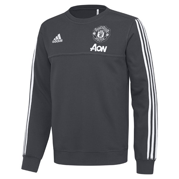 adidas Man United 2017/18 Training Sweat Top, Grey