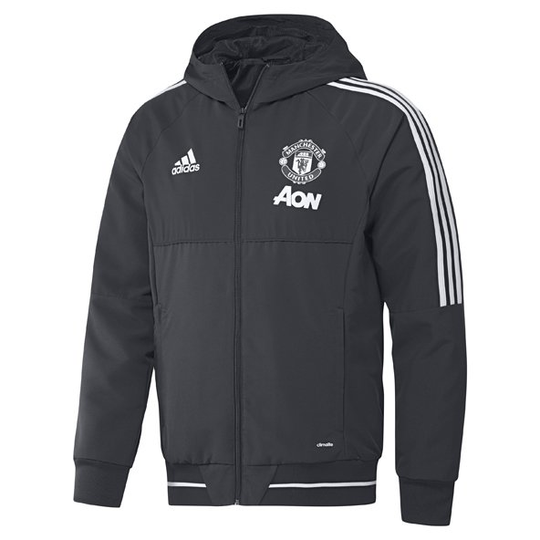 adidas Man United 2017/18 Presentation Jacket, Grey