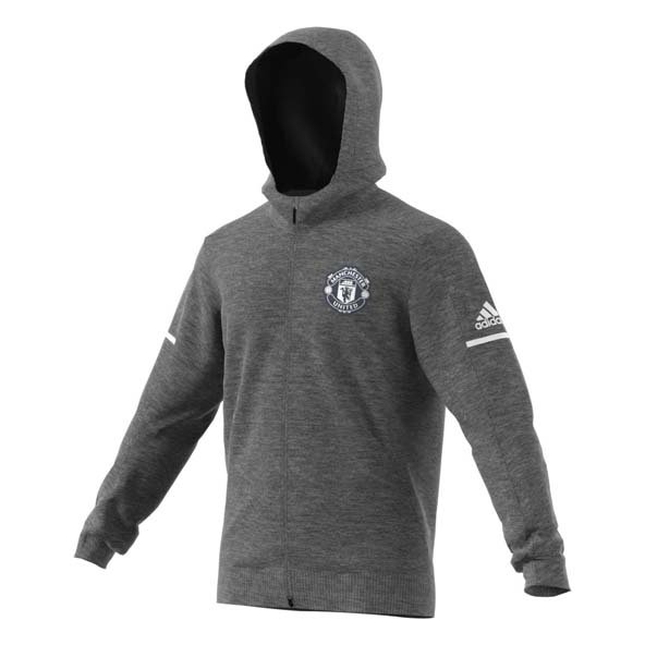 adidas Man United Men's Anthem Jacket, Grey