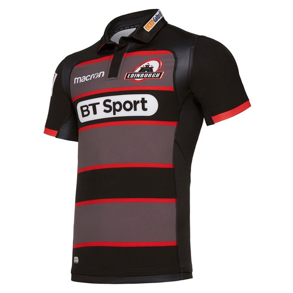 Macron Edinburgh 17 Home Jersey Blk