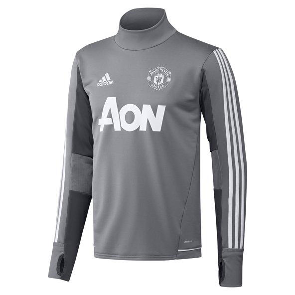 adidas Man United 2017/18 Kids' Training Top, Grey