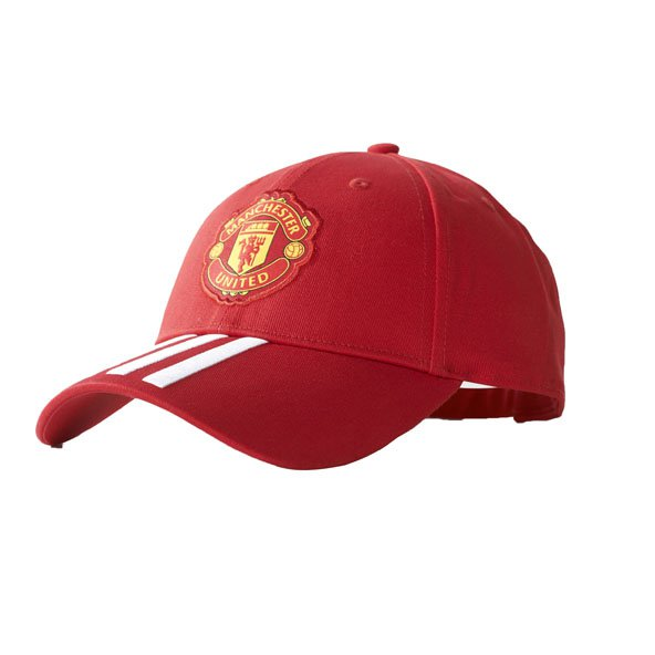 adidas Man United 2017/18 3 Stripe Cap, Red