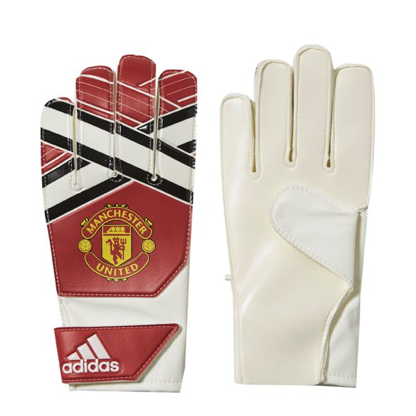 adidas Man United 2017/18 Kids' GK Gloves, Red